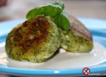 Kotlety z brokuła z sosem czosnkowym