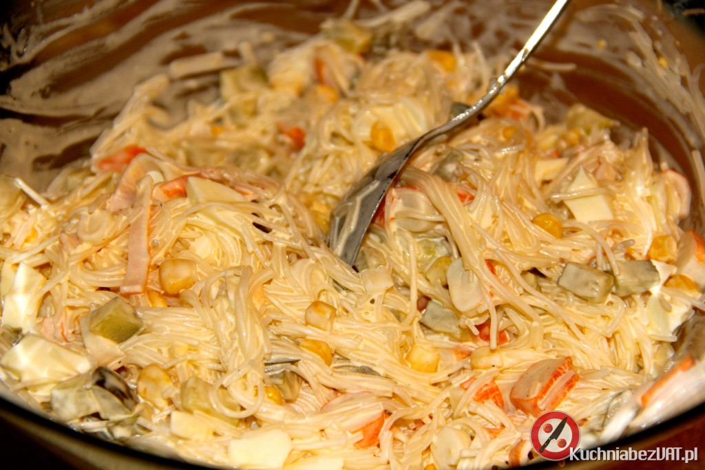 Salatka Z Surimi I Makaronem Ryzowym Kuchnia Bez Vat