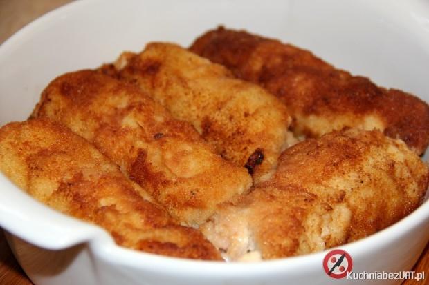 Roladki wieprzowe z wędzonym serem i szynką szwarcwaldzką